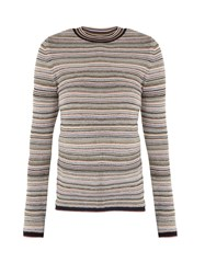 Mih Jeans Moonie Striped Wool Blend Sweater Multi