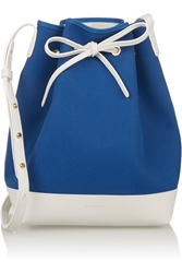 Mansur Gavriel Canvas And Leather Bucket Bag