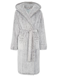 John Lewis Hi Pile Fleece Robe Grey
