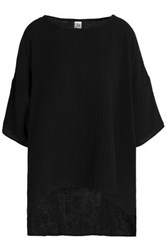 Oak Oversized Cotton Jersey T Shirt Black