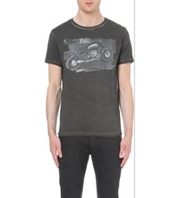 Replay Motorcycle Cotton Jersey T Shirt Black