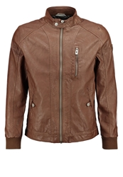 Tom Tailor Faux Leather Jacket Light Wood Brown Light Brown
