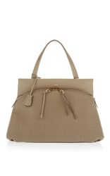 Agnona Joy Color And Pelle Tessuta Bag Neutral