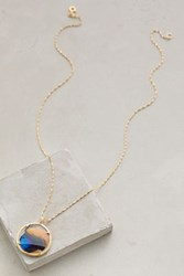 Anthropologie Butterfly's Wing Pendant Necklace Gold