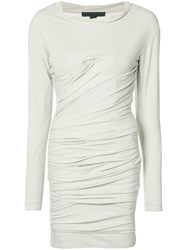 Alexander Wang Bustier Ruched Mini Dress Nude And Neutrals
