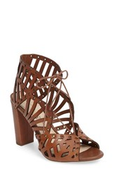 Jessica Simpson Women's Emagine Lace Up Sandal Burnt Umber Leather