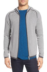 Theory Men's Melker Stripe Full Zip Hoodie