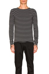 Scotch And Soda Classic Long Sleeve Tee Black And White