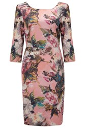 Almost Famous Floral Dress Pink