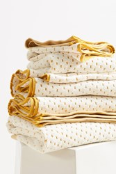 Anthropologie Dotted Jacquard Towel Collection Maize