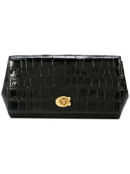 Coach Alexa Turnlock Clutch Black