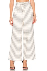 Mara Hoffman Cotton Tie Front Pant Cream