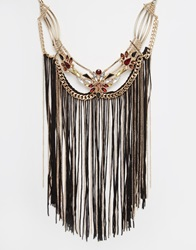 New Look Premium Tassel Collar Gold