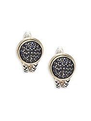 Effy Sapphire 18K Yellow Gold And Sterling Silver Earrings