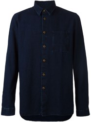 Folk Denim Pocket Shirt Blue