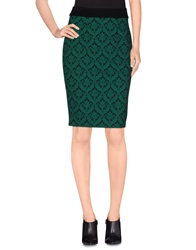 Darling Knee Length Skirts Green