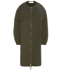 Marni Technical Twill Coat Green