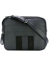 Bally Top Zip Messenger Bag Black