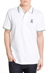 Psycho Bunny 'Neon' Pima Cotton Polo White