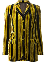 Jean Paul Gaultier Vintage Striped Velvet Jacket Yellow And Orange