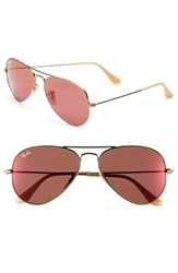 Women's Ray Ban 'Original Aviator' 58Mm Sunglasses Bronze Red Mirror
