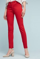 Anthropologie Ag Farrah High Rise Sateen Jeans Red