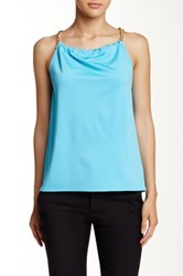 Julie Brown Lee Silk Halter Tank Blue