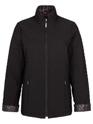 Jacques Vert Reversible Quilted Jacket Black Brown