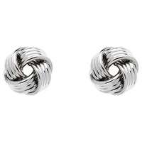 Monet Knot Stud Earrings Silver