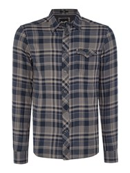 Wrangler Men's Large Check Shirt Grey