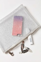 Urban Outfitters Glitter Pouch Silver