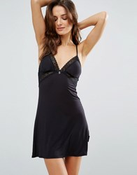 Ted Baker Signature Lace Jersey Chemise Black