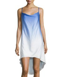 Laundry By Shelli Segal Ombre High Low Slip Dress Dazzling Blue