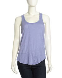 W By Wilt Twisted Slub Knit Tank Violet
