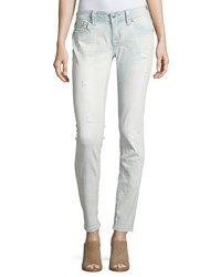Miss Me Mid Rise Skinny Denim Jeans W Embroidery Light Wash 103