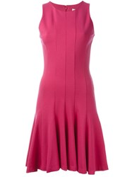 Michael Michael Kors Sleeveless Flared Dress Pink And Purple