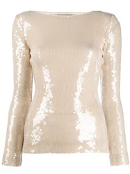 Roland Mouret Mosta Sequinned Top 60