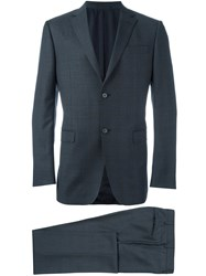 Z Zegna Single Breasted Two Piece Suit Grey