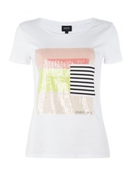 Armani Jeans Short Sleeve Square Overlay Tee White
