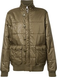Prps Funnel Neck Padded Jacket Green