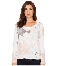 Nally And Millie Peach Print Top Multi Clothing