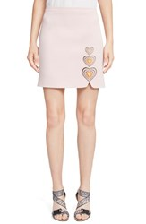 Women's Christopher Kane Heart Embroidered Mini Skirt