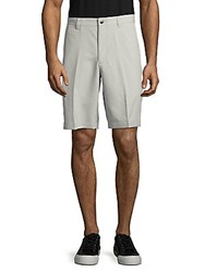 Callaway Solid Zip Front Shorts High Rise