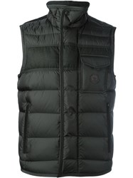 Moncler Quilted Padded Gilet Green
