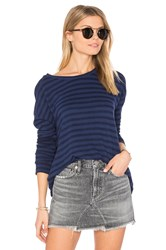 Velvet By Graham And Spencer Ciarda Stripe Sweater Navy