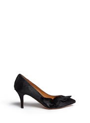 Etoile Isabel Marant 'Pealman' Bow Side Pony Hair Pumps Black