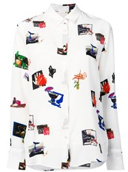 Paul Smith Ps Graphic Print Blouse White