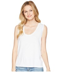 Lilla P Scoop Tank Top Light Blue Sleeveless