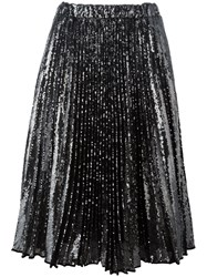 N 21 No21 Pleated Midi Skirt Metallic
