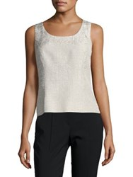 Nipon Boutique Textured Tank Top Champagne